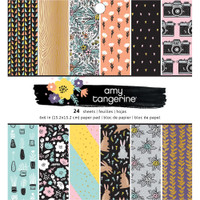 """American Crafts - Amy Tangerine - Shine On - Single-Sided Paper Pad 6"""" x 6"""""""