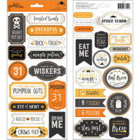American Crafts - Pebbles - Spooky Boo - Label Stickers
