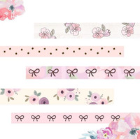 INTERNATIONAL CUSTOMERS - Oh So Paperies - Peach Floral Limited Edition Washi Tape Collection - Set of 5