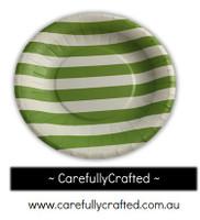 16 Paper Plates - Green - Stripe #PP17