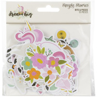 Carpe Diem - Simple Stories - Dream Big Bits & Pieces Die Cuts