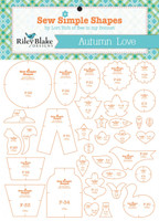 Riley Blake Designs - Lori Holt of Bee in my Bonnet - Autumn Love Quilt Template Set