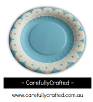 16 Paper Plates - Blue - Flower #PP19
