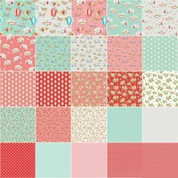 Riley Blake Designs Fabric Precuts - Vintage Adventure by Beverly McCullough  - Fat Quarter Bundle