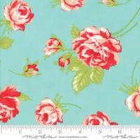Moda Fabric - Smitten - Bonnie & Camille - Rosy Aqua #55170 12