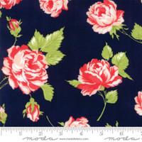 Moda Fabric - Smitten - Bonnie & Camille - Rosy Navy #55170 15