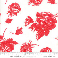 Moda Fabric - Smitten - Bonnie & Camille - Rosy Cream Red #55170 21