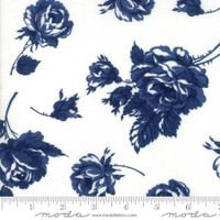 Moda Fabric - Smitten - Bonnie & Camille - Rosy Cream Navy #55170 25