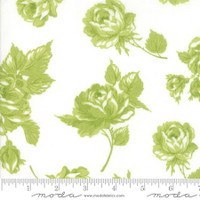 Moda Fabric - Smitten - Bonnie & Camille - Rosy Cream Green #55170 26