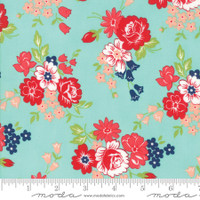 Moda Fabric - Smitten - Bonnie & Camille - Bouquet Aqua #55171 12