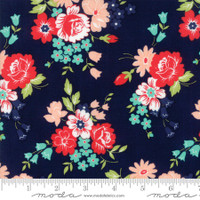 Moda Fabric - Smitten - Bonnie & Camille - Bouquet Navy #55171 15