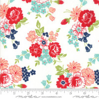 Moda Fabric - Smitten - Bonnie & Camille - Bouquet Cream #55171 17