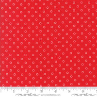 Moda Fabric - Smitten - Bonnie & Camille - Little Darling Dot Red #55172 11