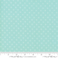 Moda Fabric - Smitten - Bonnie & Camille - Little Darling Dot Aqua #55172 12