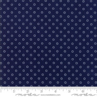 Moda Fabric - Smitten - Bonnie & Camille - Little Darling Dot Navy #55172 15