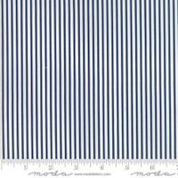 Moda Fabric - Smitten - Bonnie & Camille - Pinstripe Navy  #55173 15