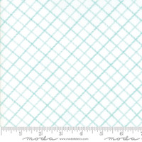 Moda Fabric - Smitten - Bonnie & Camille - Bias Plaid Aqua #55175 28
