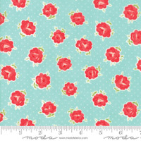 Moda Fabric - Smitten - Bonnie & Camille - Lovely Aqua #55177 12