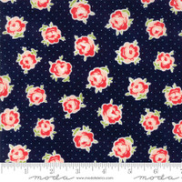 Moda Fabric - Smitten - Bonnie & Camille - Lovely Navy #55177 15