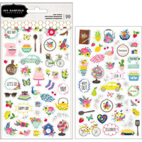 Jen Hadfield - My Bright Life Clear Stickers - Phrase & Icons