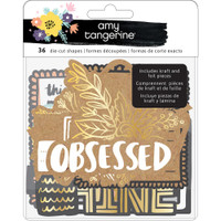 American Crafts - Amy Tangerine - Shine On Ephemera Die-Cuts