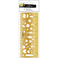 American Crafts - Amy Tan - Shine On Ruler Stencil 6""