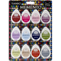 Memento Dew Drop Dye Ink Pads - Set of 12 - Sorbet Scoops