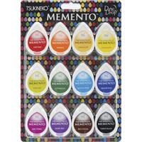 Memento Dew Drop Dye Ink Pads - Set of 12 - Gum Drops