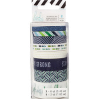 Heidi Swapp - Washi Tape Rolls - Storyline2 - Stay Strong - Set of 8