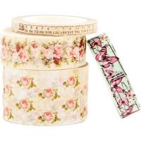 Prima Marketing - Misty Rose Decorative Washi Tape - Set of 4