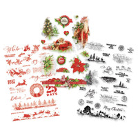 Carpe Diem - Simple Stories - Simple Vintage Christmas Clear Stickers