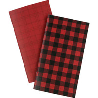 Echo Park - Traveler's Notebook Insert - Daily Calendar - Standard - Red Buffalo Plaid