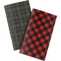 Echo Park - Traveler's Notebook Insert - Weekly Calendar - Standard - Red Buffalo Plaid