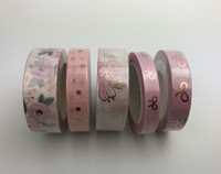Oh So Paperies -Peach Floral Limited Edition Washi Tape Collection - Set of 5