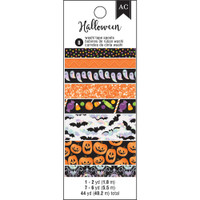 American Crafts - Halloween - Washi Tape - Set of 8 - Holographic, Glitter & Foil Accents