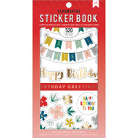 American Crafts - Sticker Book - Birthday Greetings with Gold Foil