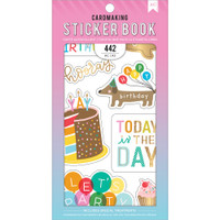 American Crafts - Sticker Book - Happy Hooray with Gold Foil