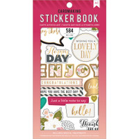 American Crafts - Sticker Book - Just a Little Note with Gold Foil