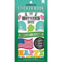 American Crafts - Sticker Book - All The Holidays with Silver Foil