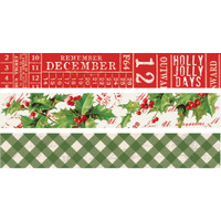 Carpe Diem - Washi Tape - Set of 3 - Simple Vintage Christmas