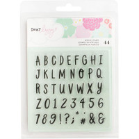 American Crafts - Dear Lizzy Stay Colorful Clear Acrylic Stamps - Alpha