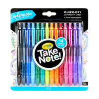 Crayola Take Note! Washable Gel Pens - Set of 14