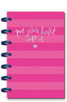 The Happy Planner - Me and My Big Ideas - Happy Notes - Pink Heart - Mini (Dot Grid)