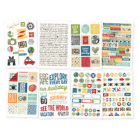Carpe Diem - Simple Stories - Travel Notes - Stickers - 8 Sheets
