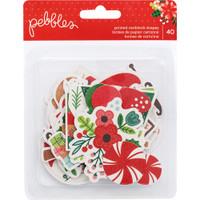 Pebbles - Cozy & Bright Ephemera Cardstock Die Cuts - Christmas - Set of 40