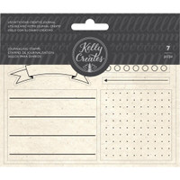 American Crafts - Kelly Creates - Acrylic Traceable Stamps - Journaling