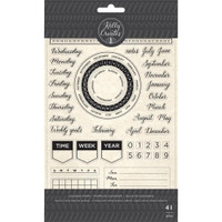 American Crafts - Kelly Creates - Acrylic Traceable Stamps - Calendar