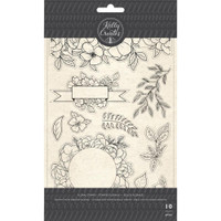 American Crafts - Kelly Creates - Acrylic Traceable Stamps - Florals