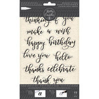American Crafts - Kelly Creates - Acrylic Traceable Stamps - Bouncy Celebration