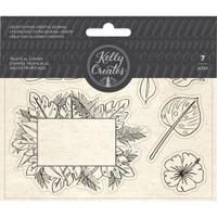 American Crafts - Kelly Creates - Acrylic Traceable Stamps - Tropical